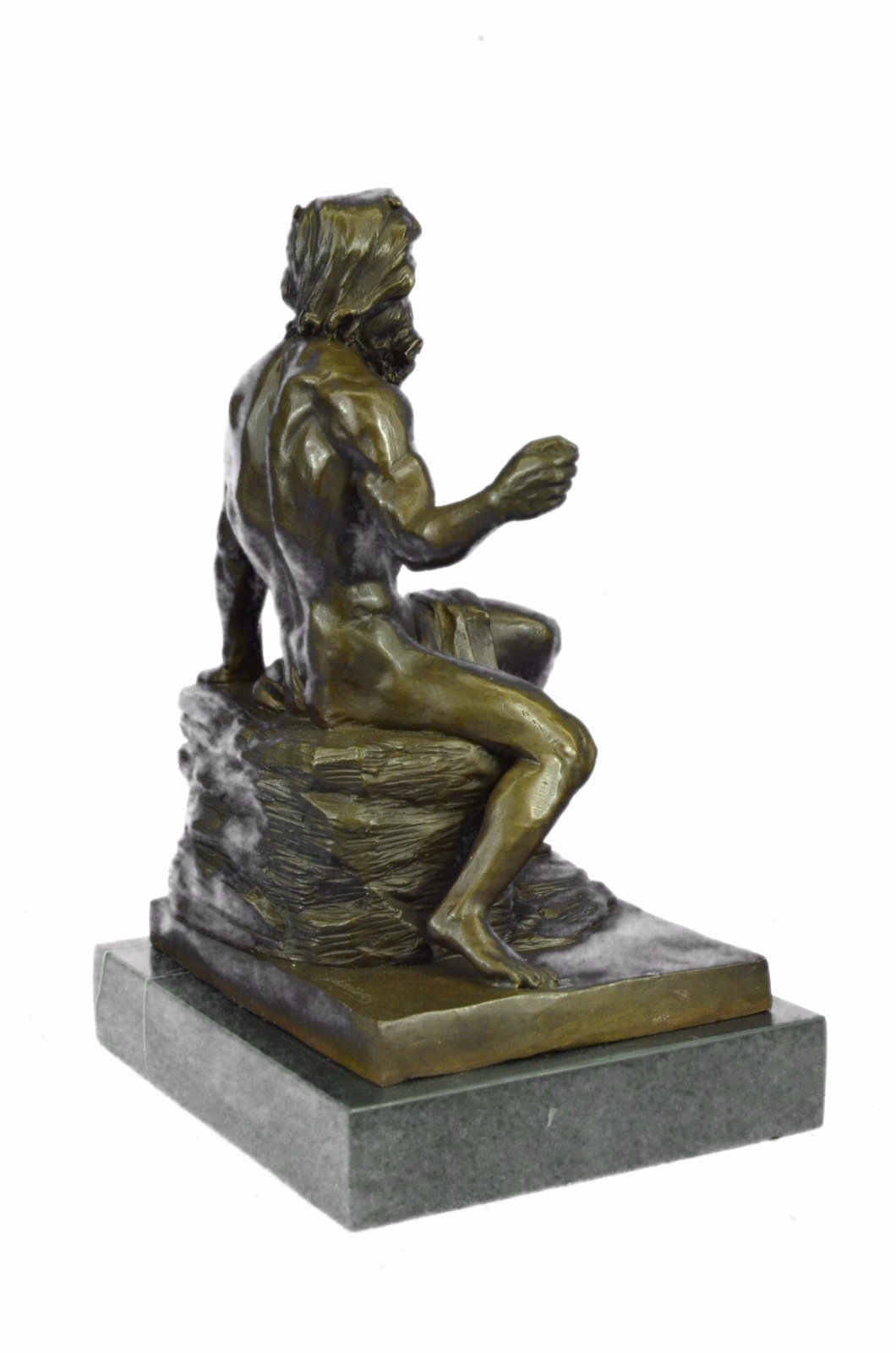 Bronze sculpture art deco greek sea god poseidon figurine sculpture ebay - Poseidon statue greece ...