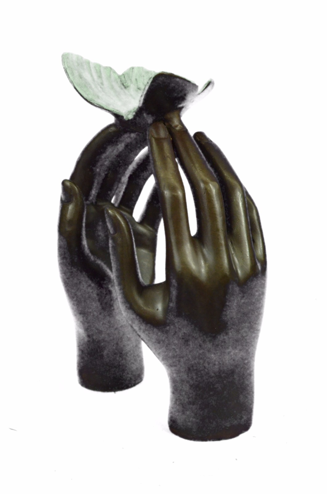 Limited-Edition-Numbered-Milo-Two-Hands-And-A-Blue-Butterfly-St-US-Bronze-Sculpt