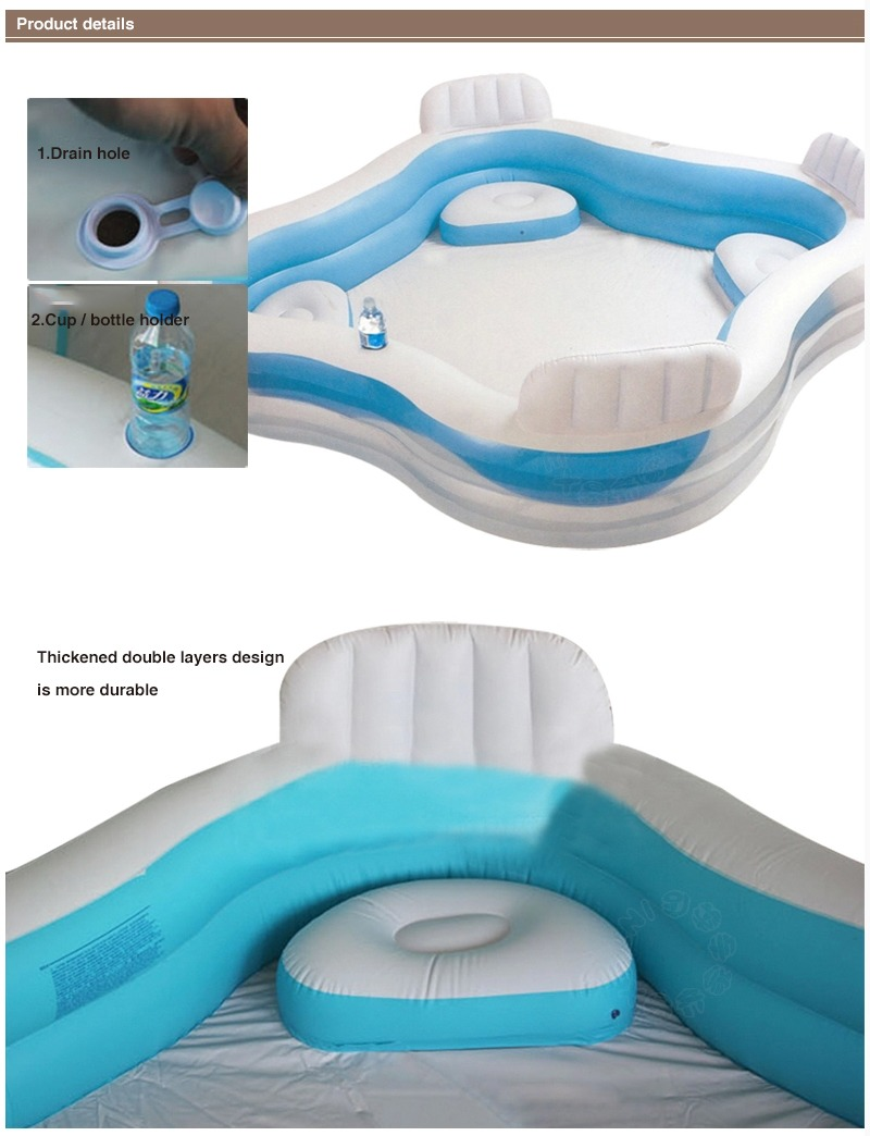 Intex Family Lounge Pool Swim Centre With 4 Seats Drink Holders Brand New