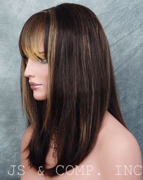 Frosted Brown Hair with Highlights