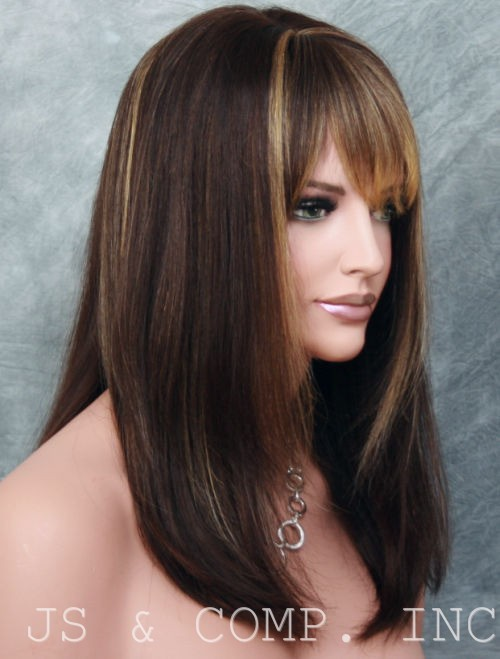 Frosted Brown Hair with Bangs