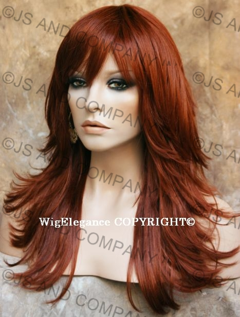Relaxed Multi Layered Flip Out Style Long Copper Red Wig Fn130 Ebay