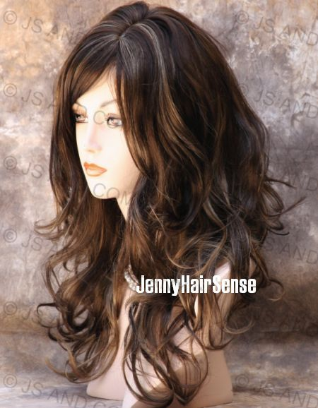 New Long Wavy Curly Chestnut Brown Blonde Mix Wig 8t124 2015 | Personal Blog