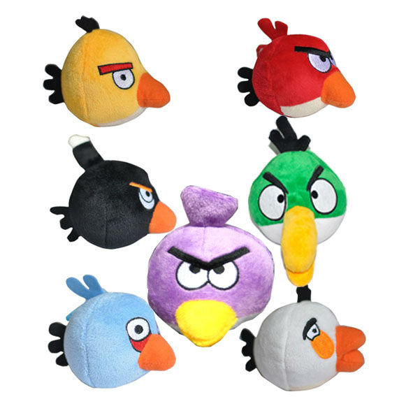 All Angry Birds Plush Toys : Iphone game angry birds pigs green bird plush toy ebay