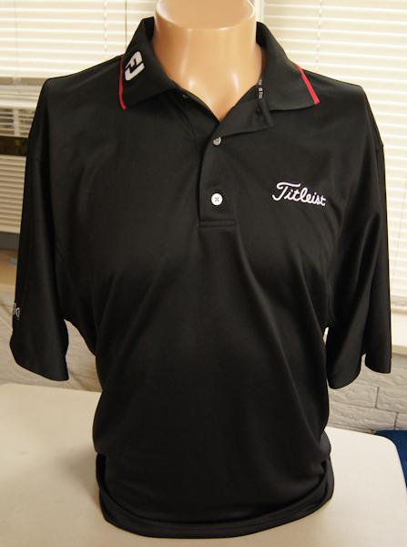 footjoy titleist golf shirt xl prodry superlite black