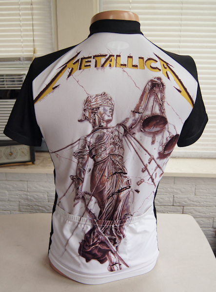 Metallica Cycling Jersey Medium And Justice For All