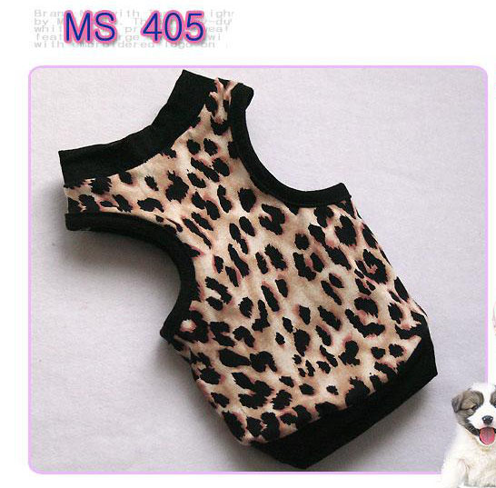 Dog Clothes Cat Dress costume Pet Apperal summer lepard shirt all size 405