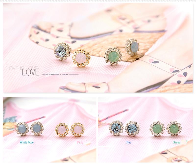 Crystal Silver Gold Swarovski jewellery nikel free titanium post earrings 4204