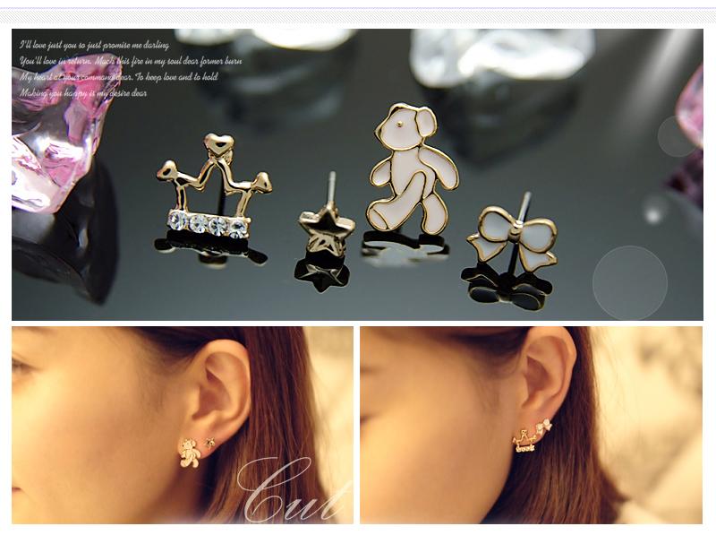 Crystal Silver Gold Swarovski jewellery nikel free titanium post earrings 4099