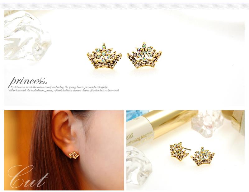 Crystal Silver Gold Swarovski jewellery nikel free titanium post earrings 4241