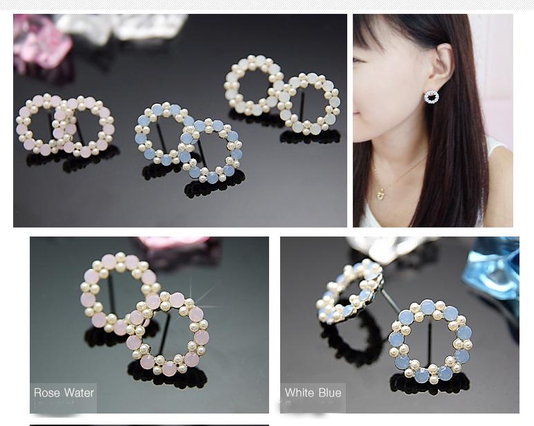 Crystal Silver Gold Swarovski jewellery nikel free titanium post earrings 4078