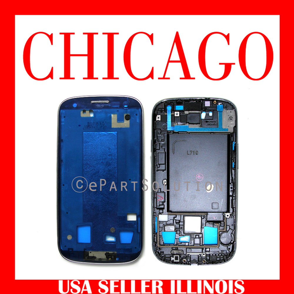 Glasses Frame Repair Chicago : Samsung Galaxy S3 III L710 Middle Cover Frame White Repair ...