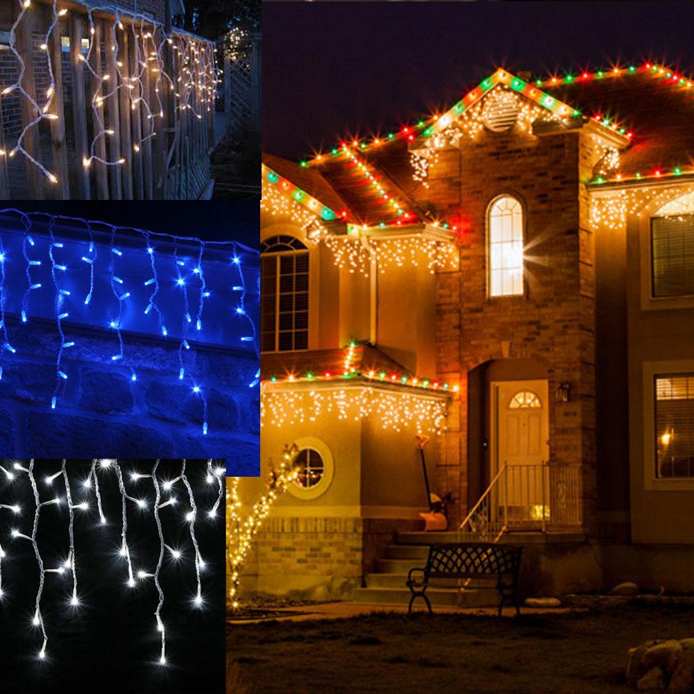 Curtain christmas lights walmart