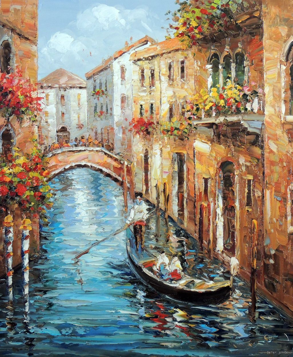 The Italian Waiter Oil Painting