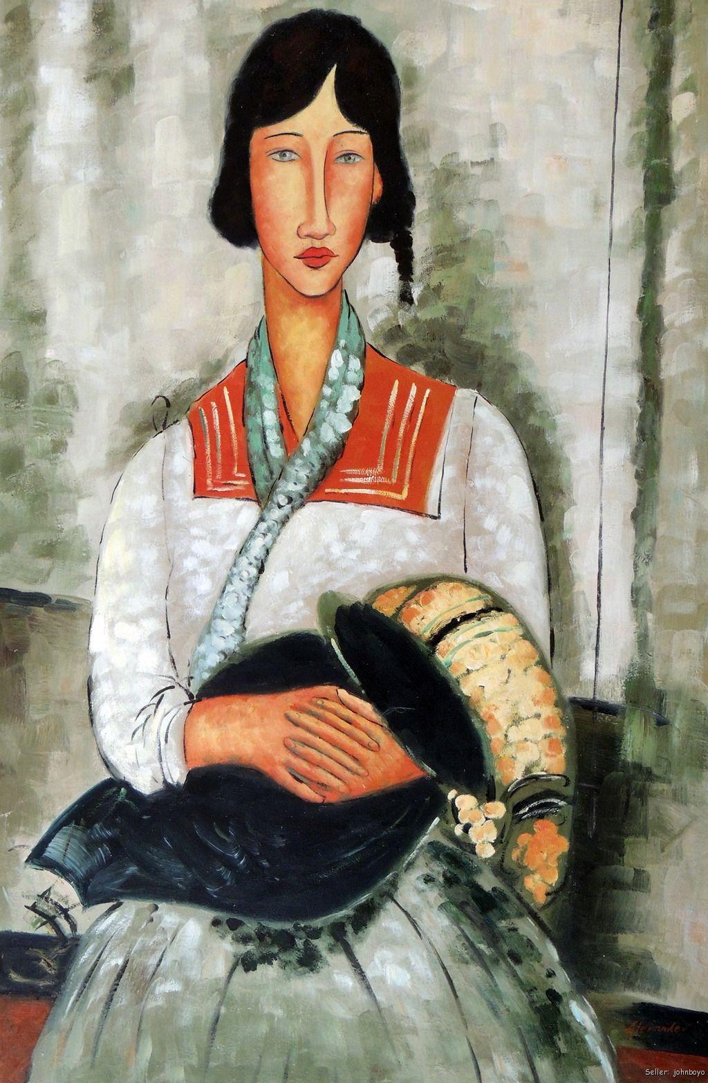Gypsy Woman Painting Modigliani Repro Gypsy...