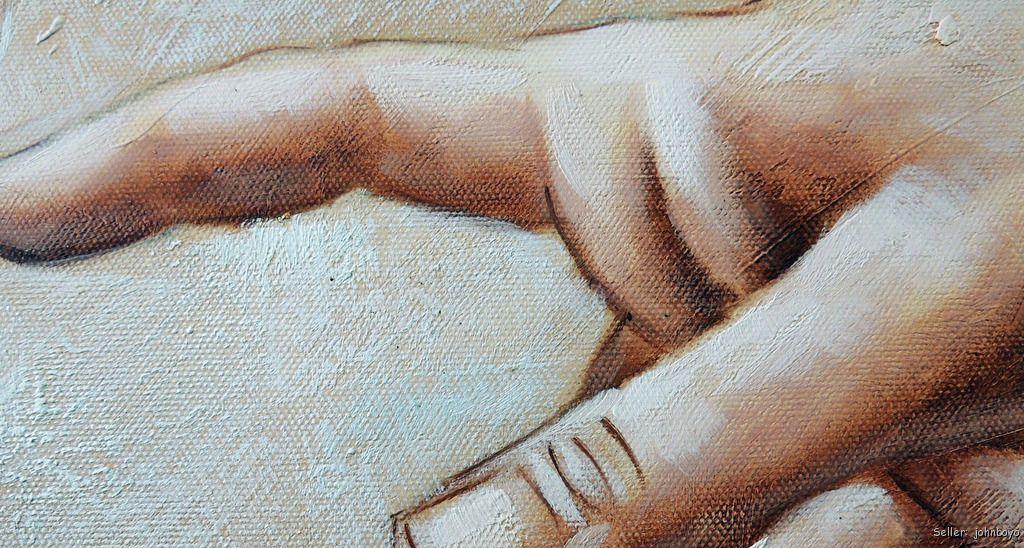 Hands Of God & Adam Michelangelo Repro Sistine Chapel ...