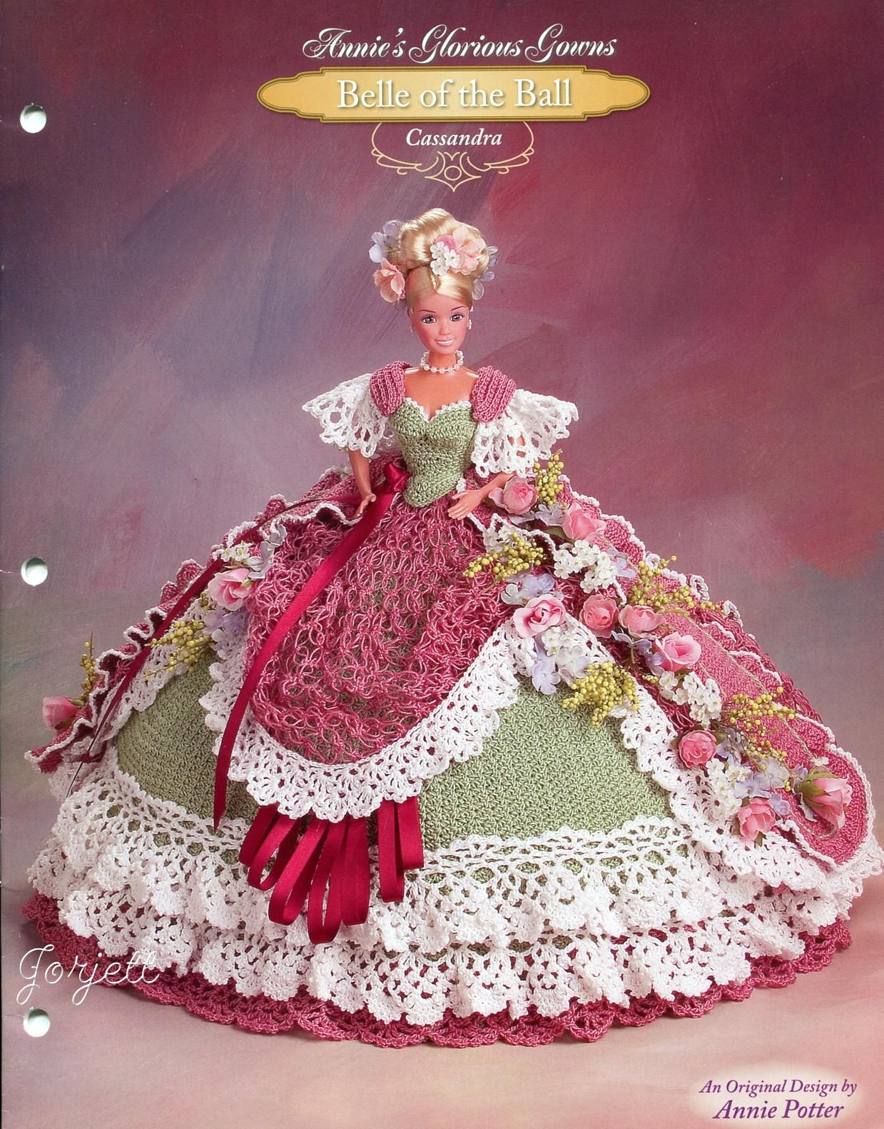 Как связать бальное платье для куклы