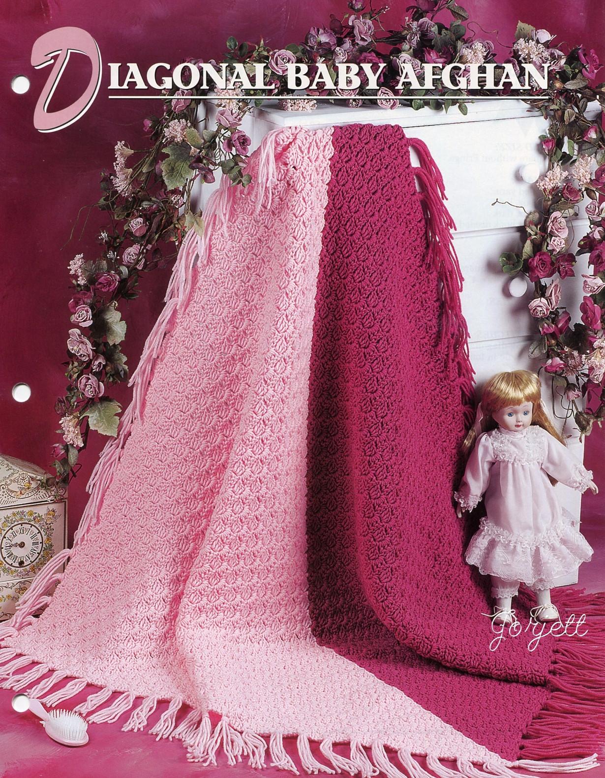 diagonal baby afghan - Crochet Me