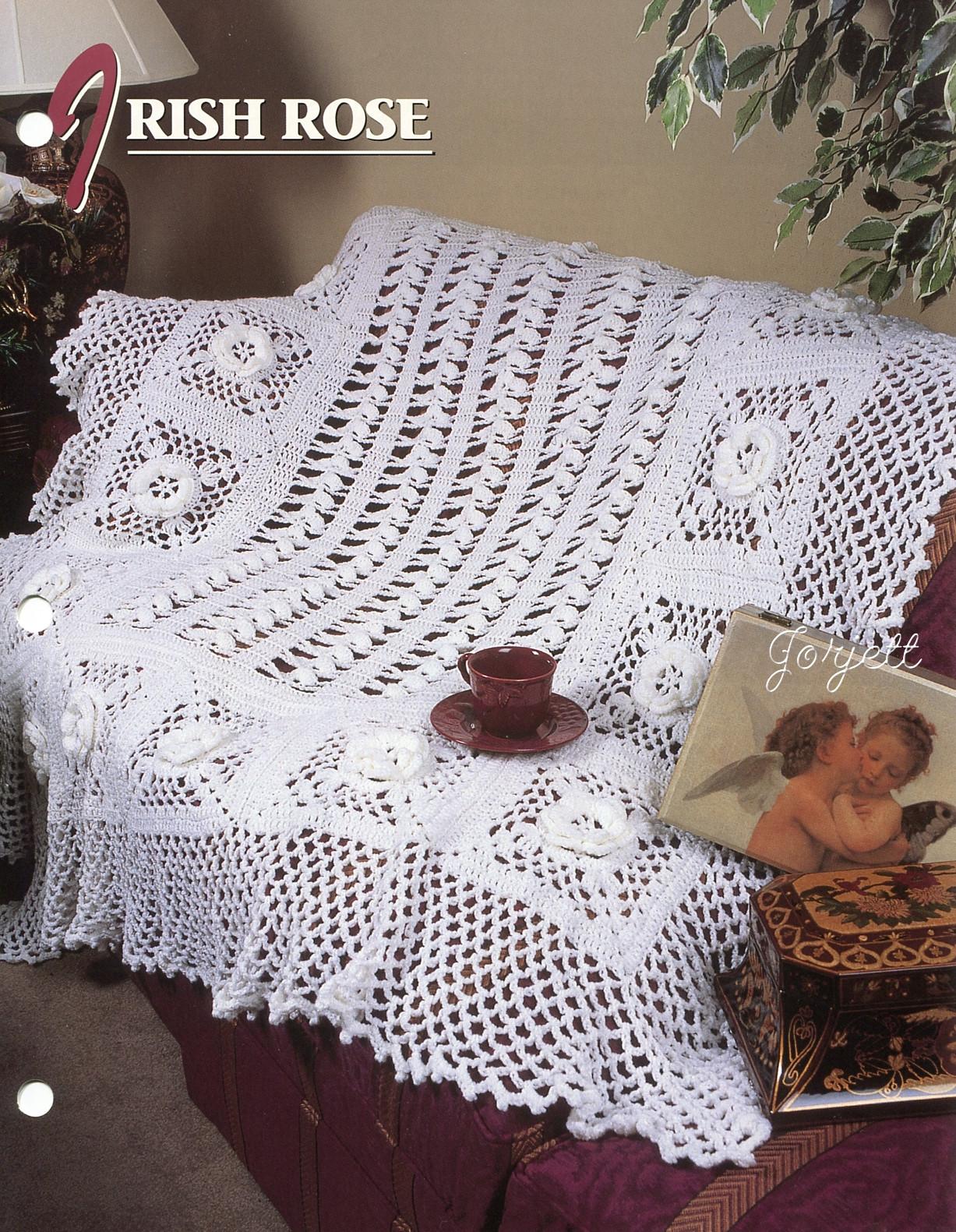 Irish Rose Crochet Afghan Pattern ~ Dancox for .