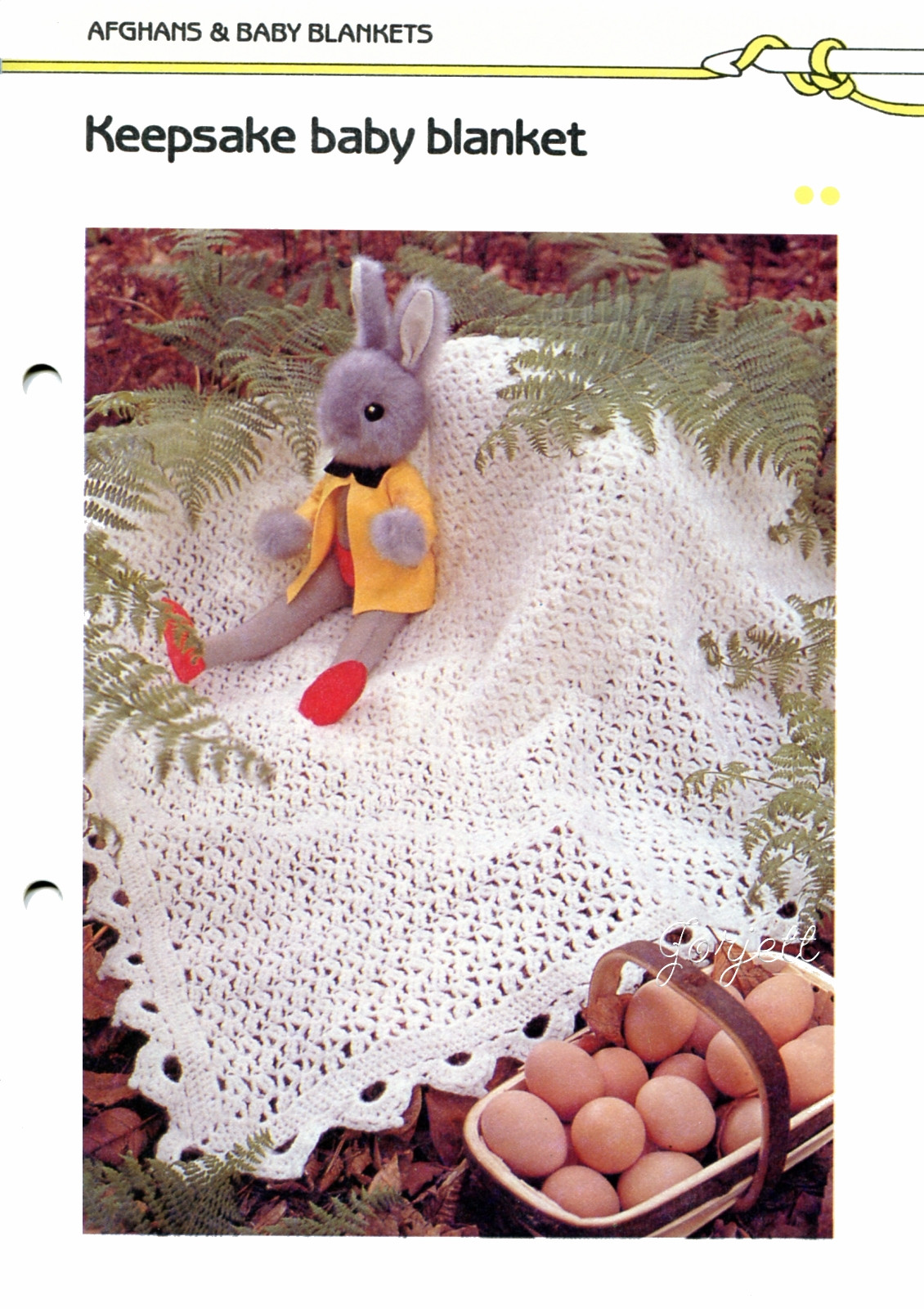 Beginner Crochet Patterns: Raised Rib Lilac-Cream Crochet Blanket