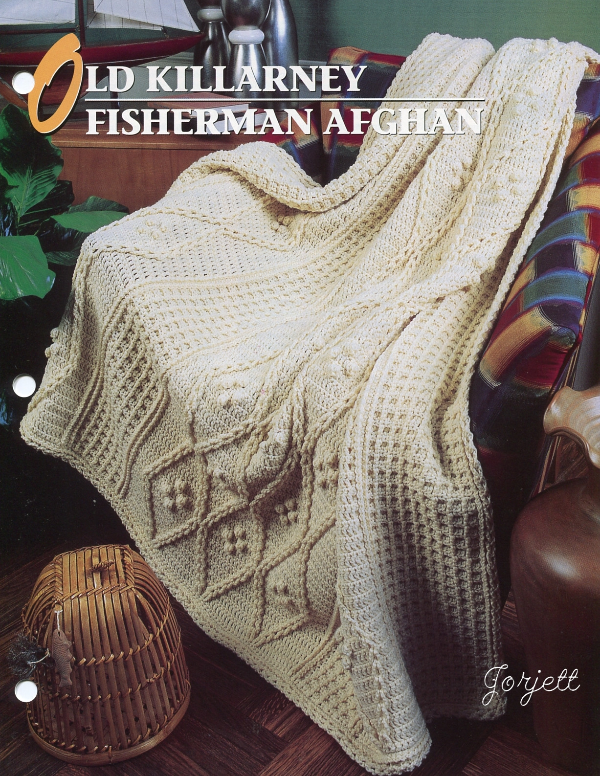 Old Killarney Fisherman Afghan, Annies crochet pattern eBay