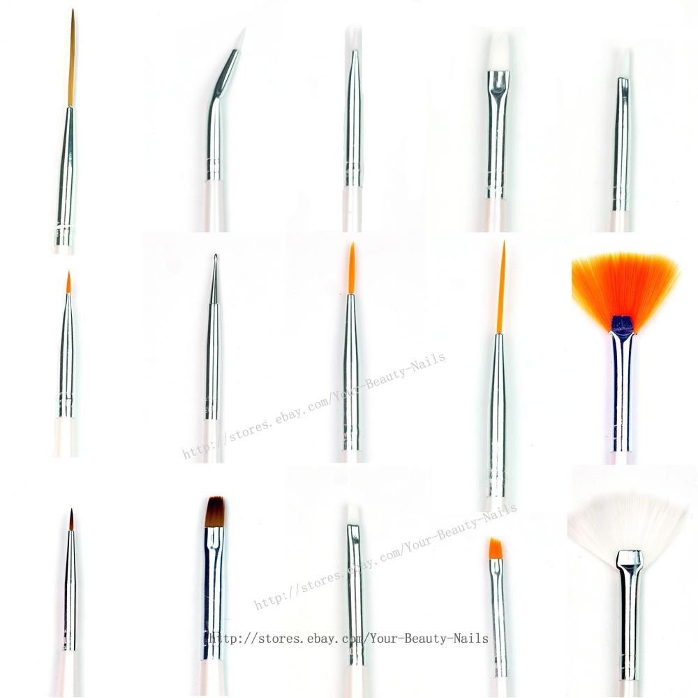 15 Pcs/Set Nail Art Paint Dot Draw Pen Brush For UV Gel