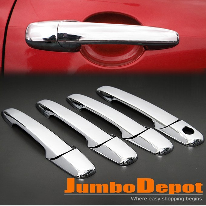 Chrome Door Handle Cover Trim Set for Ford Edge Lincoln MKZ Mazda 2 3 5 6 RX 8