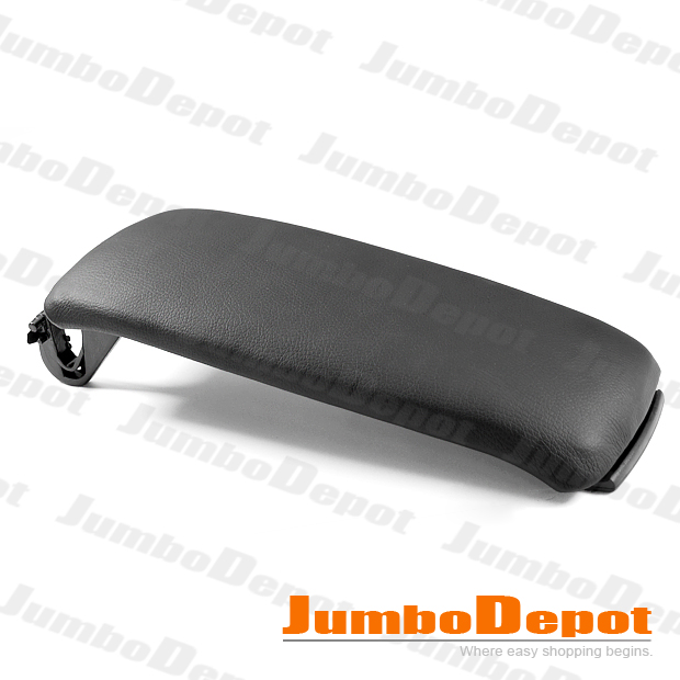 FOR-2000-2006-AUDI-A4-S4-A6-LEATHERETTE-CENTER-CONSOLE-ARMREST-COVER-LID-BLACK
