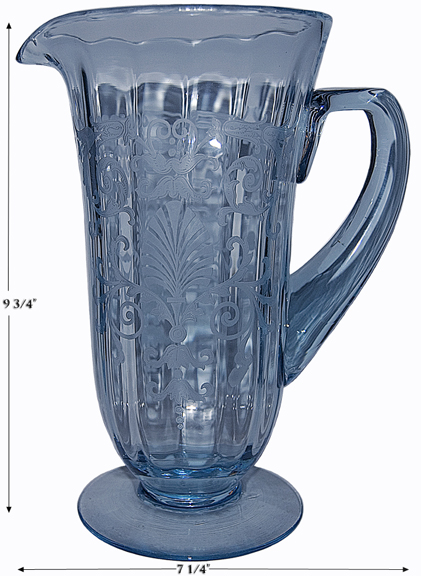Fostoria Blue Versailles Pitcher