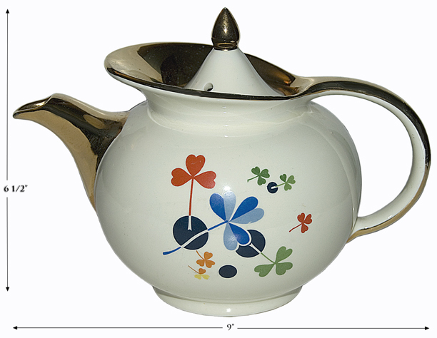 HALL GOLDEN CLOVER TEAPOT