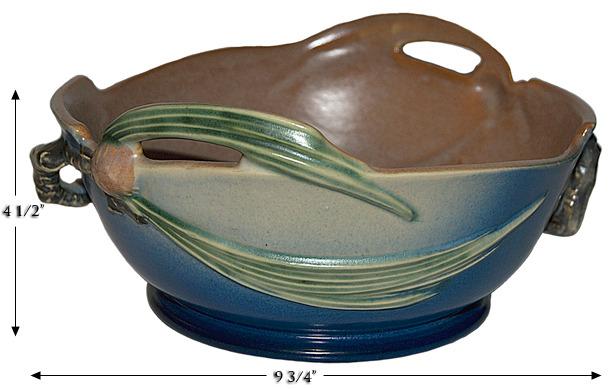 Roseville Pine Cone Blue Bowl