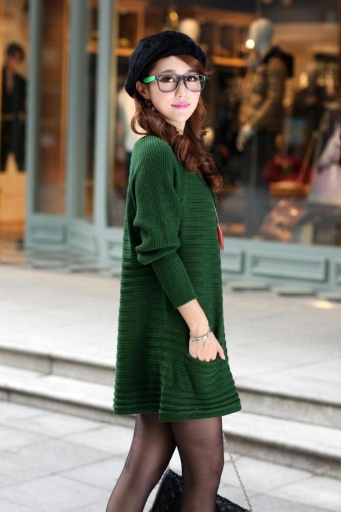 Зеленый Свитер Женский