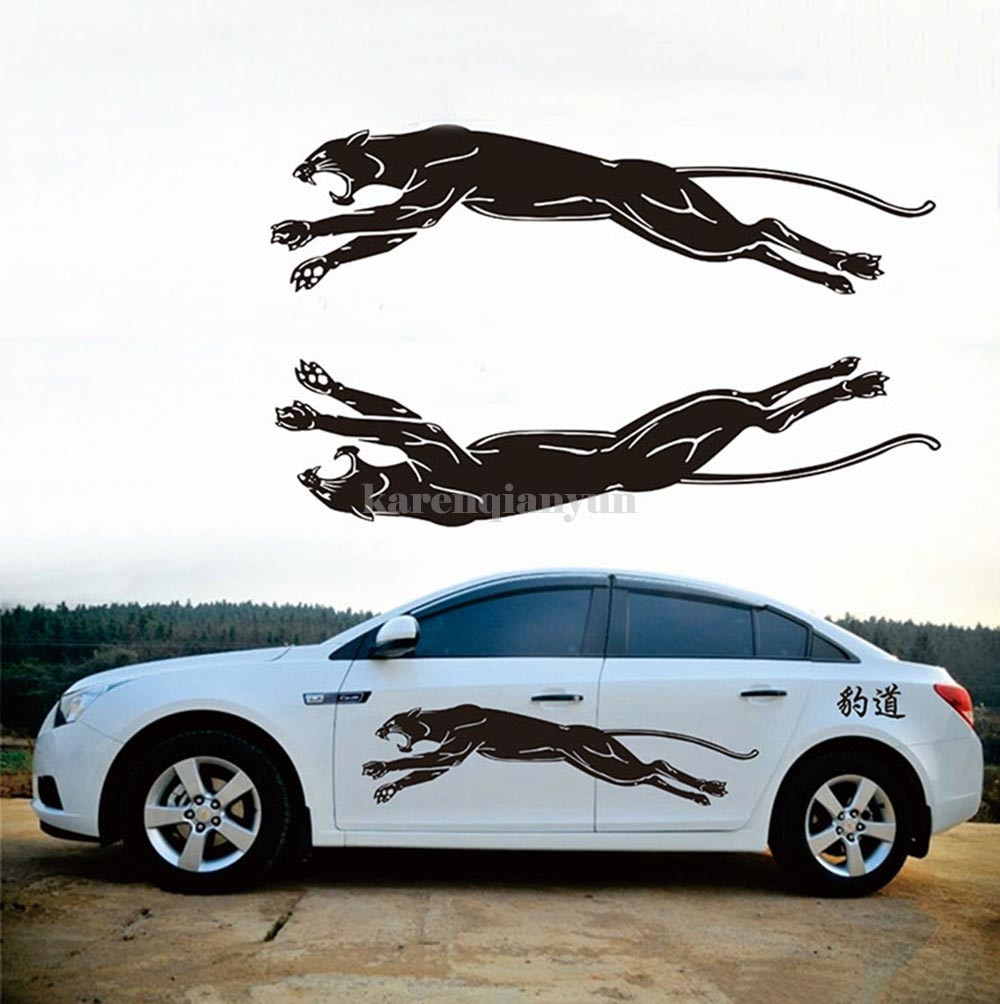 Car side body sticker design - 1set Leopard Styling Car Truck Decal Vinyl Auto Graphic Side Body Sticker Decor
