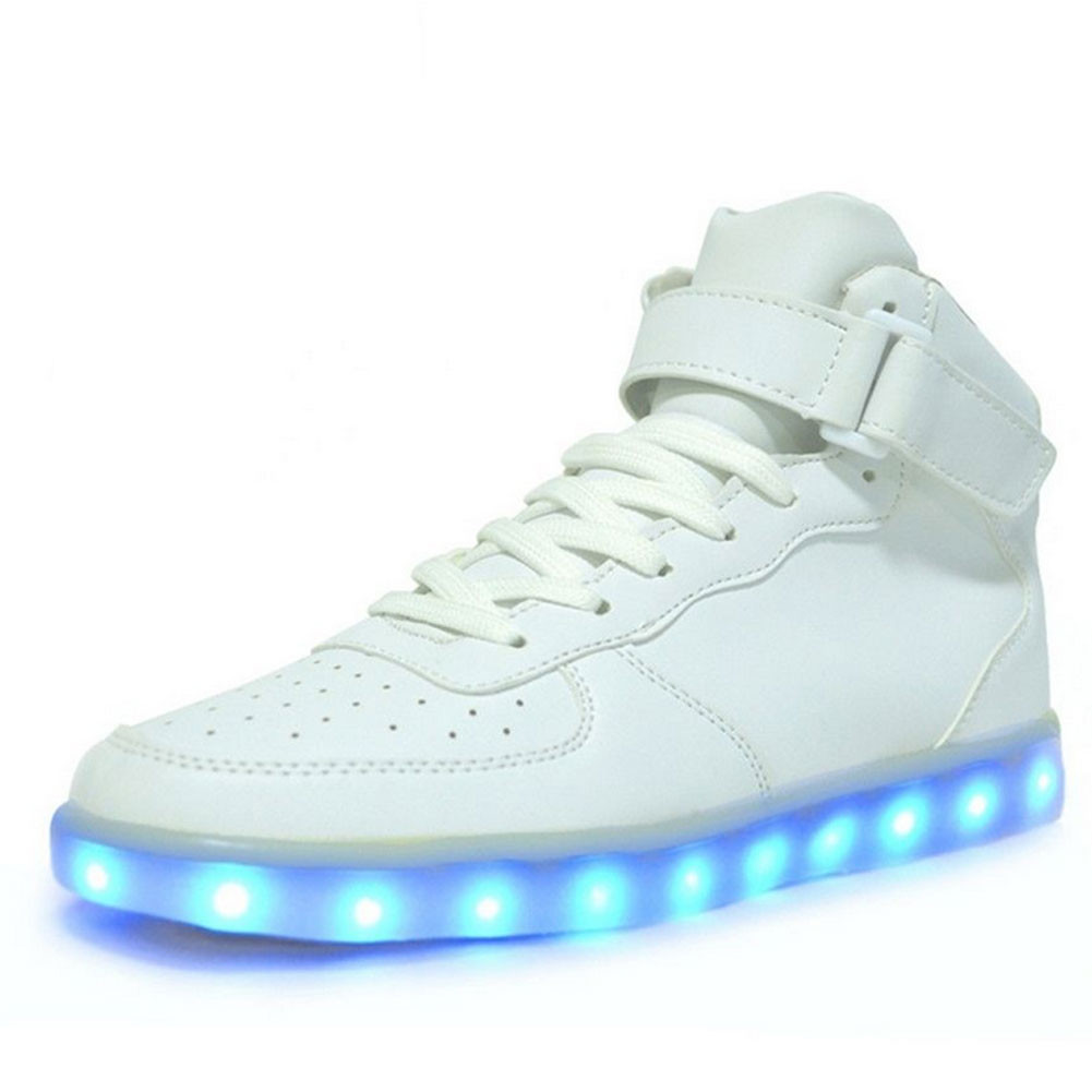 Multi LED Light Up High Low White Black Shoes Size 37-46 Hip Hop ...