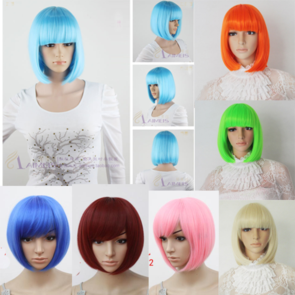 Fashion-New-Cute-Cosplay-Bob-Hair-Wig-Women-Straight-Short-Full-Wigs-9-Colors