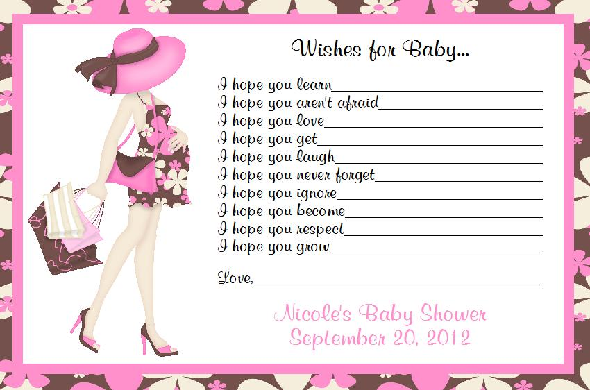 details about personalized baby shower wishes for baby cards