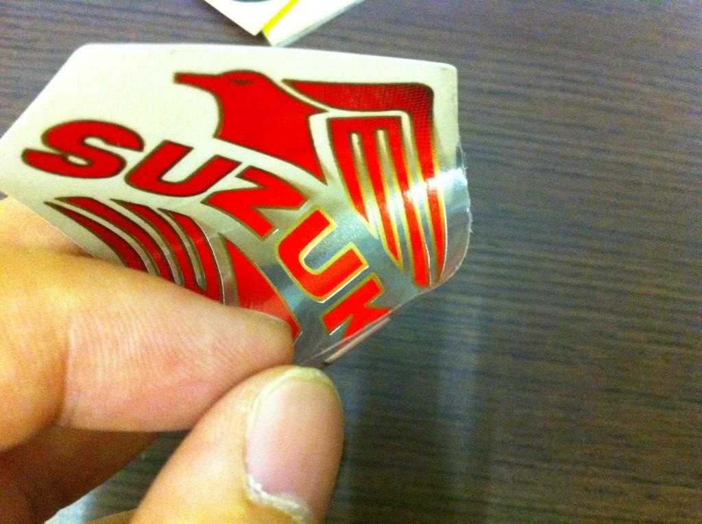 A012 Suzuki Logo Sticker Decal Emblem Aluminium Waterproof Brand New