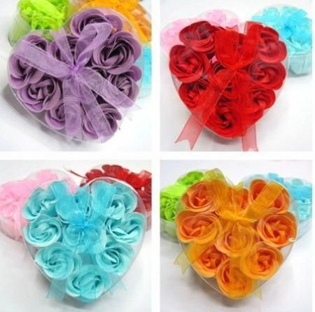 9pcs-Gift-Colors-Flower-Bath-Body-Soaps-Soap-Rose-Petal