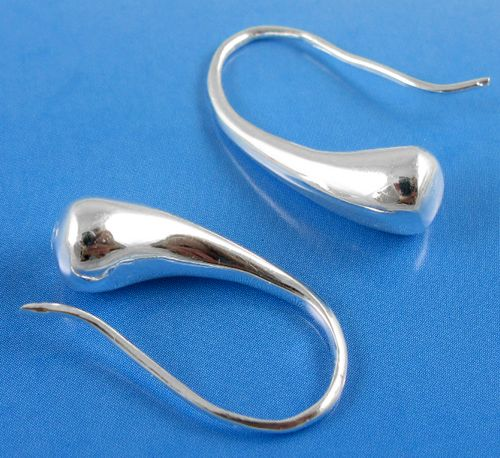 Girl-Ladys-Fashion-Silver-Plated-Lovely-Teardrop-Hook-Dangle-Charm-Earrings