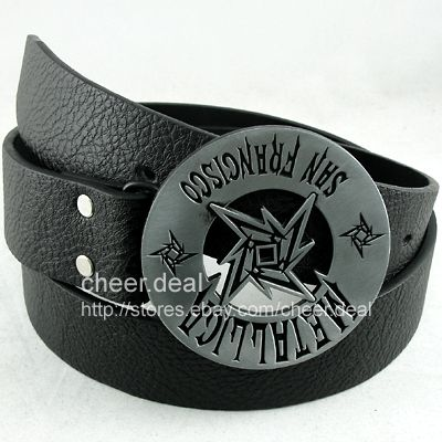 Metallica-San-Francisco-Buckle-Genuine-Leather-Belt