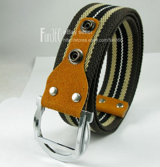 Wholsale-Boy-Mens-Canvas-Web-Belt-Army-MilitaryStyle-Metal-Buckle-Betls-FreeShip