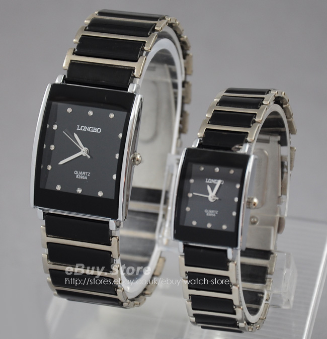 Stainless-Steel-Ceramic-Band-Crystal-Mens-Ladies-Square-Quartz-Wrist-Watch-New