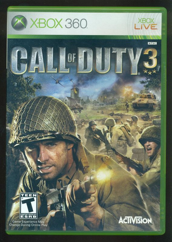 Xbox 360 T Games : Xbox call of duty rated t complete genre shooter