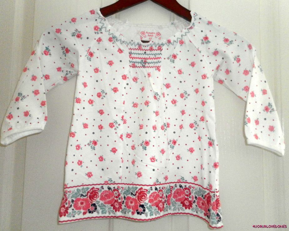 PUMPKIN-PATCH-FLORAL-BABYDOLL-TOP-S-24M-3-5-NWT