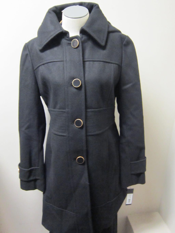 Kenneth-Cole-Reaction-Hooded-Wool-Blend-Walker-Coat-Black-NWT