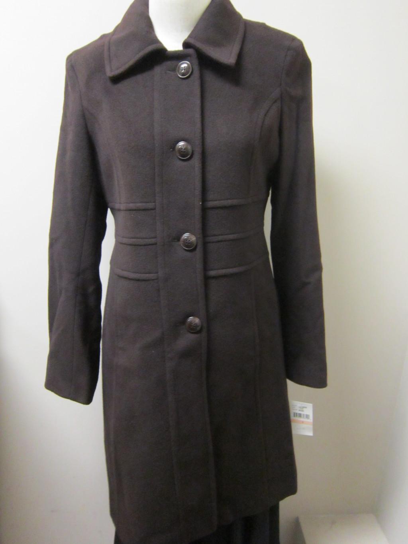 Anne-Klein-Wool-Cashmere-Blend-Walker-Coat-Brown-NWT