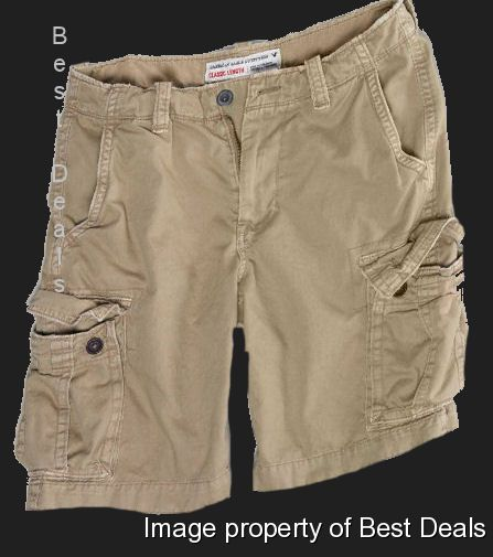 American-Eagle-AE-Mens-Classic-Length-KHAKI-CARGO-Shorts-NEW-FREE-FAST-SHIPPING