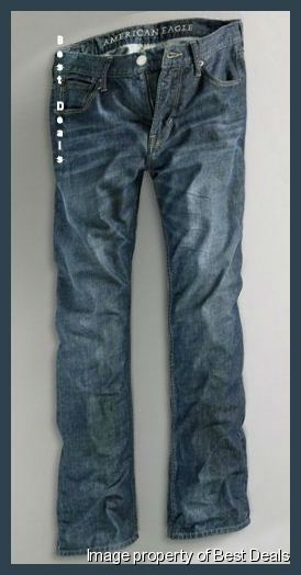AMERICAN-EAGLE-AE-MENS-Original-STRAIGHT-FIT-BLUE-JEANS-NEW-FREE-FAST-SHIPPING