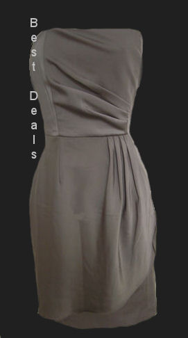 BANANA-REPUBLIC-WOMENS-STRAPLESS-Ruched-OLIVE-GREEN-DRESS-NEW-FREE-FAST-SHIPPING