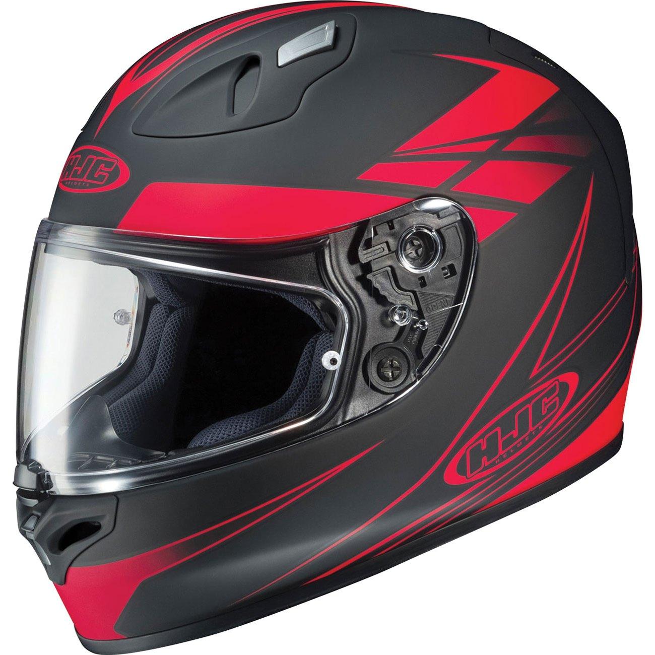 17 force mc 1 helmet full face street motorcycle flat matte black red